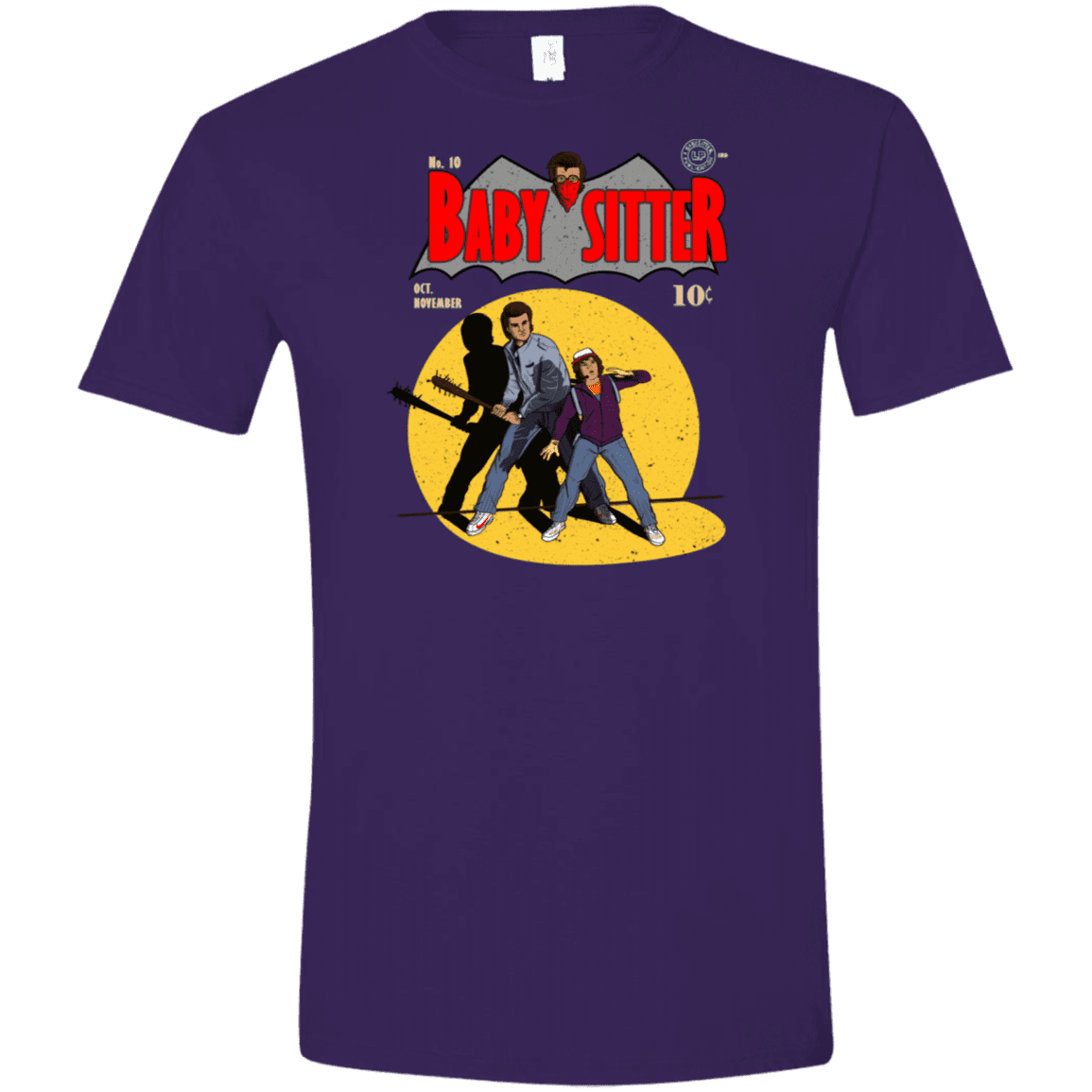 T-Shirts Purple / S Babysitter Batman Men's Semi-Fitted Softstyle