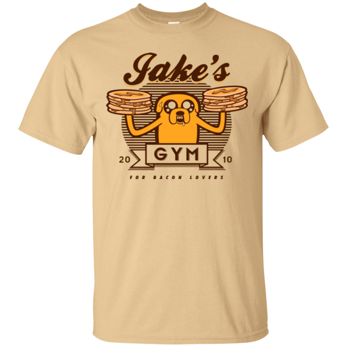 T-Shirts Vegas Gold / Small Bacon lovers gym T-Shirt