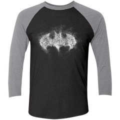 T-Shirts Vintage Black/Premium Heather / X-Small Bat Smoke Men's Triblend 3/4 Sleeve