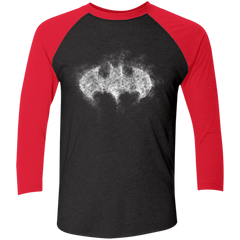 T-Shirts Vintage Black/Vintage Red / X-Small Bat Smoke Men's Triblend 3/4 Sleeve