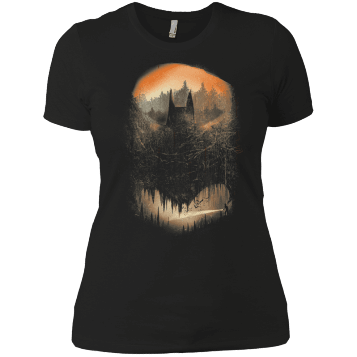 Batcaving Orange Version Women's Premium T-Shirt