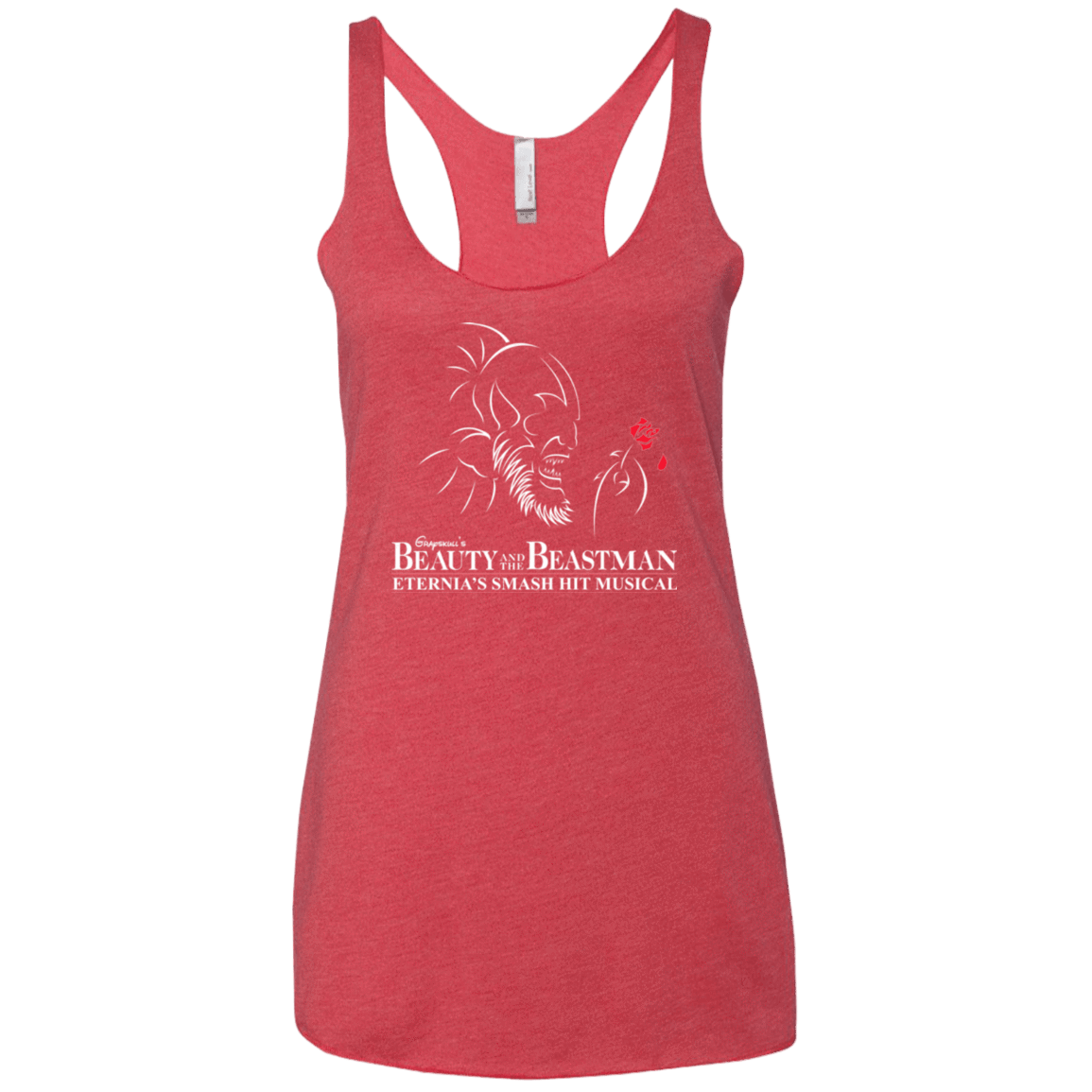 Beauty and the Beastman Women's Triblend Racerback Tank