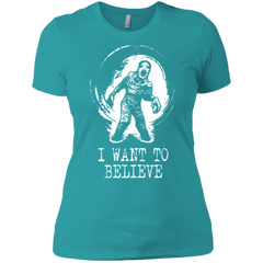 Believe in Flukeman Women's Premium T-Shirt