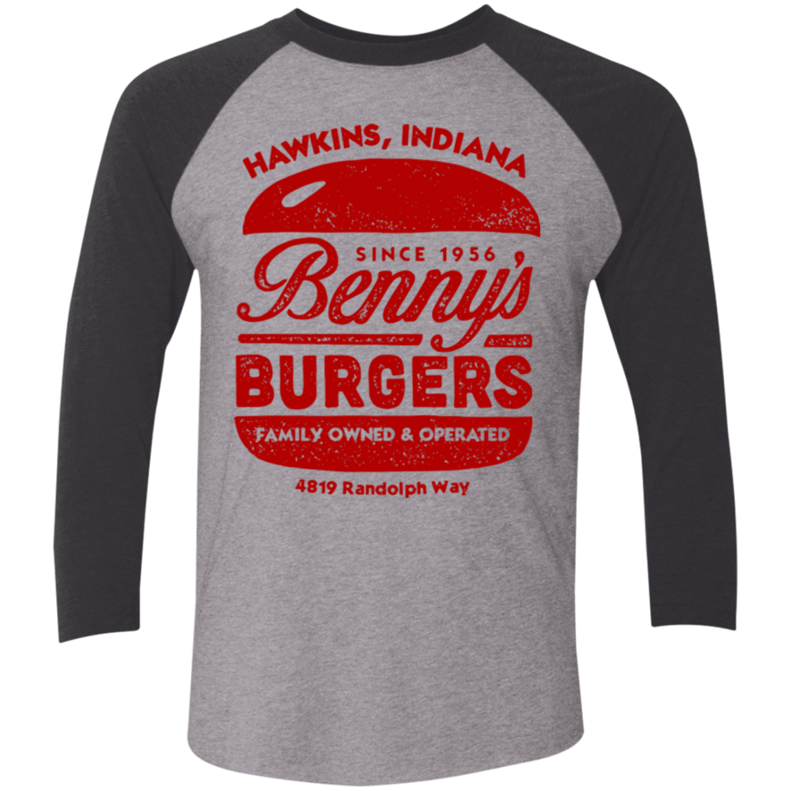Benny's Burgers Triblend 3/4 Sleeve
