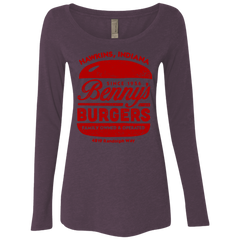Benny's Burgers Women's Triblend Long Sleeve Shirt