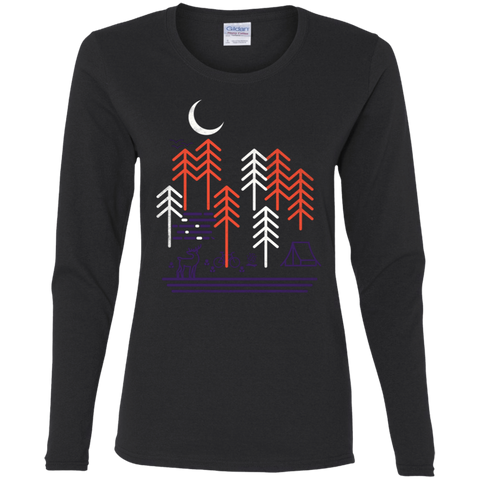 T-Shirts Black / S Bicycle Days Women's Long Sleeve T-Shirt