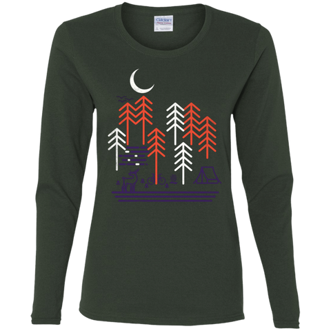 T-Shirts Forest / S Bicycle Days Women's Long Sleeve T-Shirt