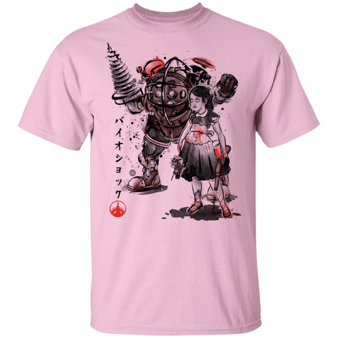 Big Daddy and Little Sister sumi-e T-Shirt