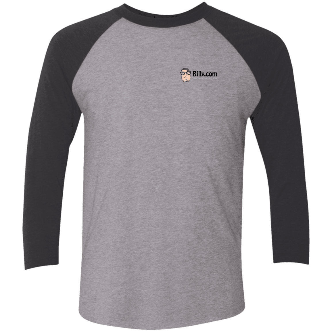 Billy.com Next Level Tri-Blend 3/4 Sleeve Baseball Raglan T-Shirt