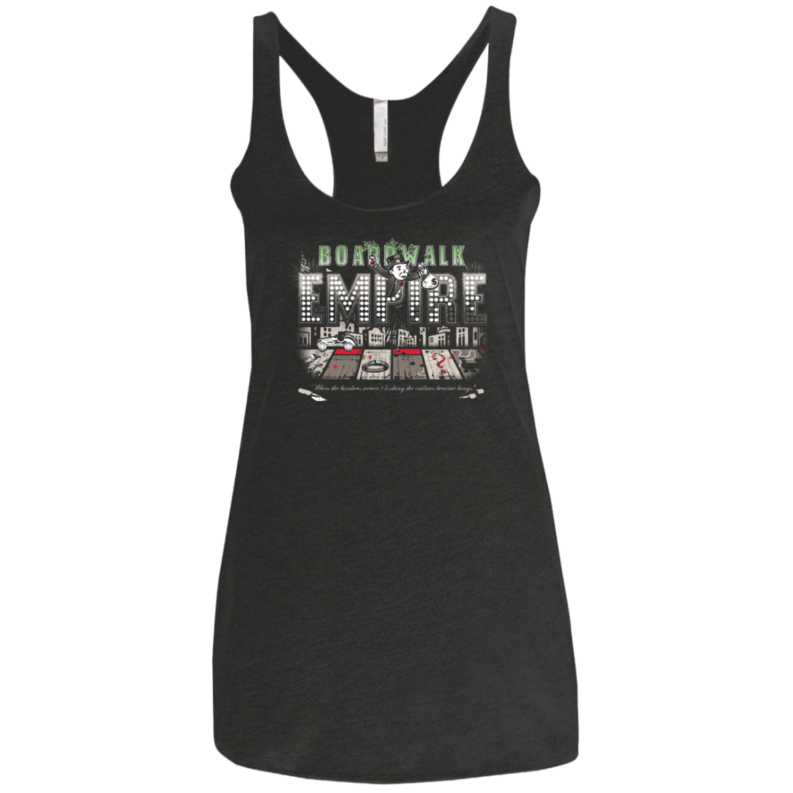 Boardwalk Empire Women's Triblend Racerback Tank