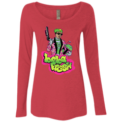 Boba Fresh Women's Triblend Long Sleeve Shirt
