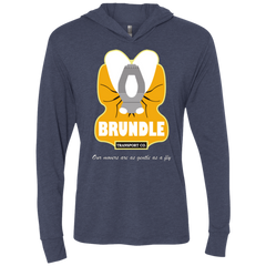 Brundle Transportation Triblend Long Sleeve Hoodie Tee
