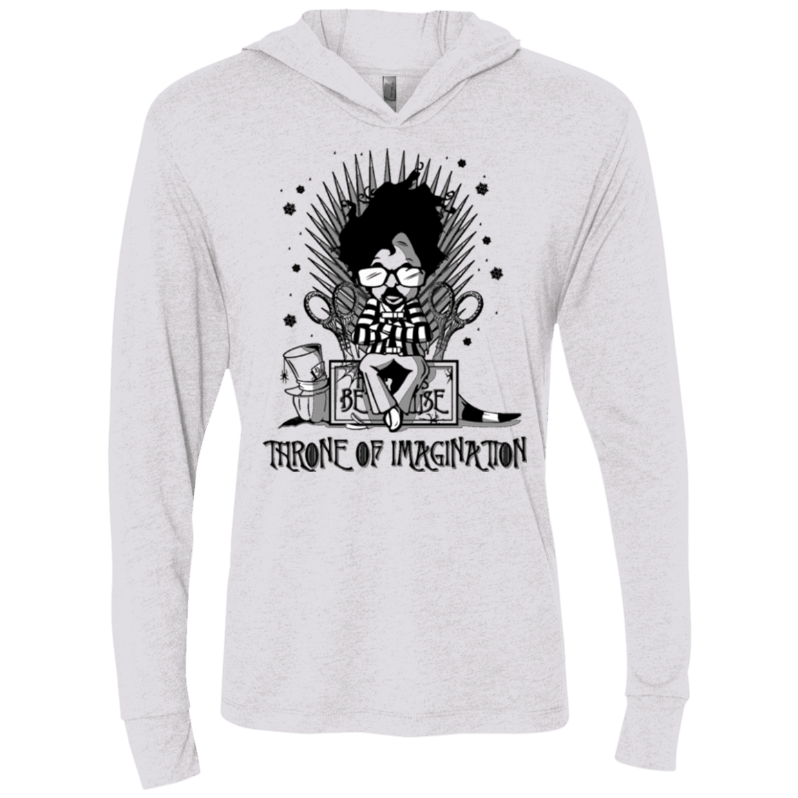 Burtons Iron Throne Triblend Long Sleeve Hoodie Tee