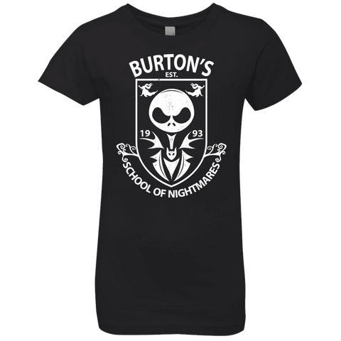 Burtons School of Nightmares Girls Premium T-Shirt