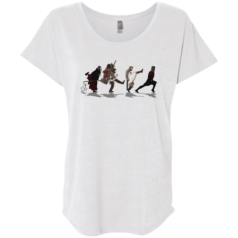 T-Shirts Heather White / X-Small Caminando Hacía El Grial Triblend Dolman Sleeve