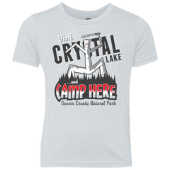 CAMP HERE Youth Triblend T-Shirt