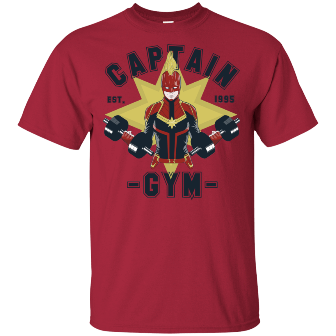 T-Shirts Cardinal / S Captain Gym T-Shirt