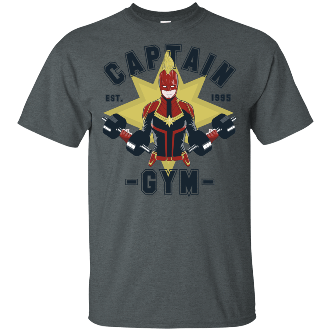 T-Shirts Dark Heather / S Captain Gym T-Shirt