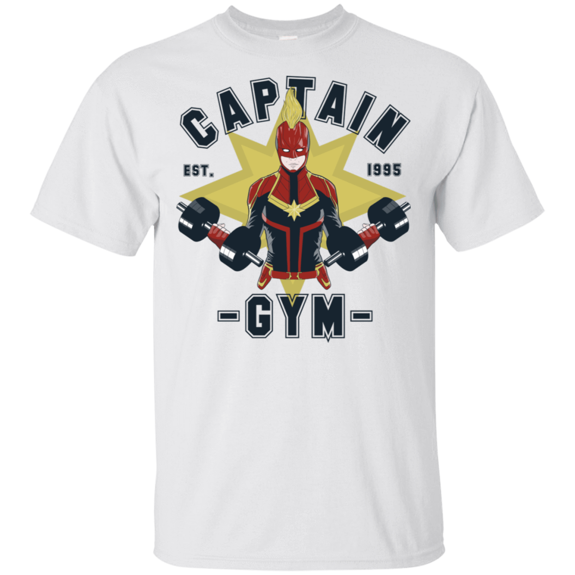 T-Shirts White / S Captain Gym T-Shirt