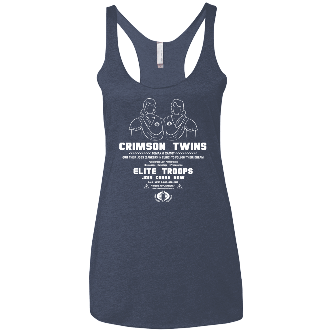 T-Shirts Vintage Navy / X-Small Career Opportunities Women's Triblend Racerback Tank