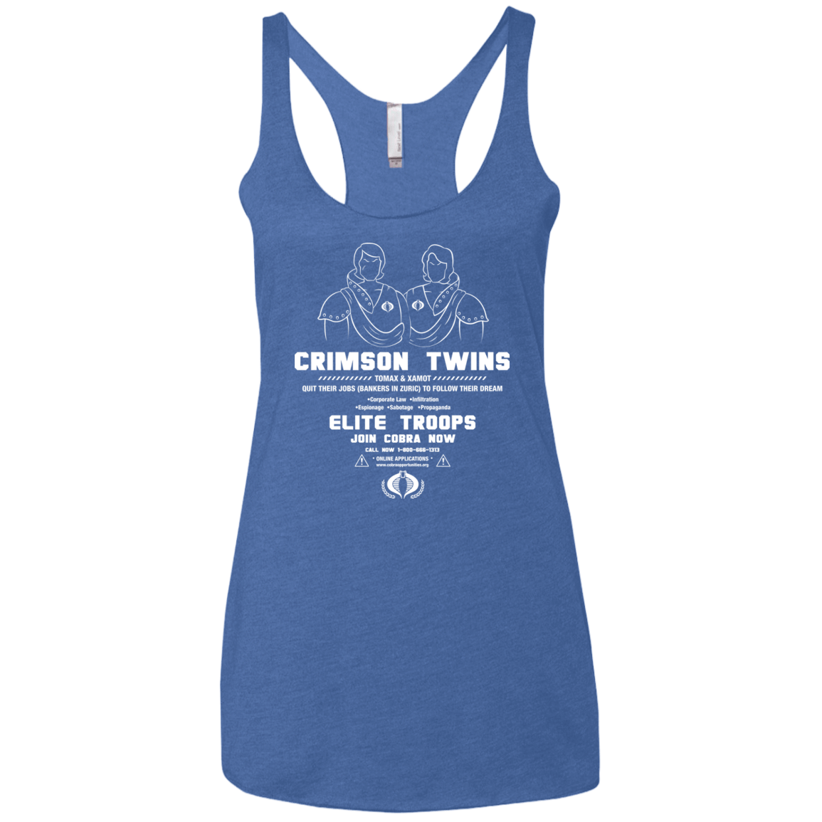 T-Shirts Vintage Royal / X-Small Career Opportunities Women's Triblend Racerback Tank