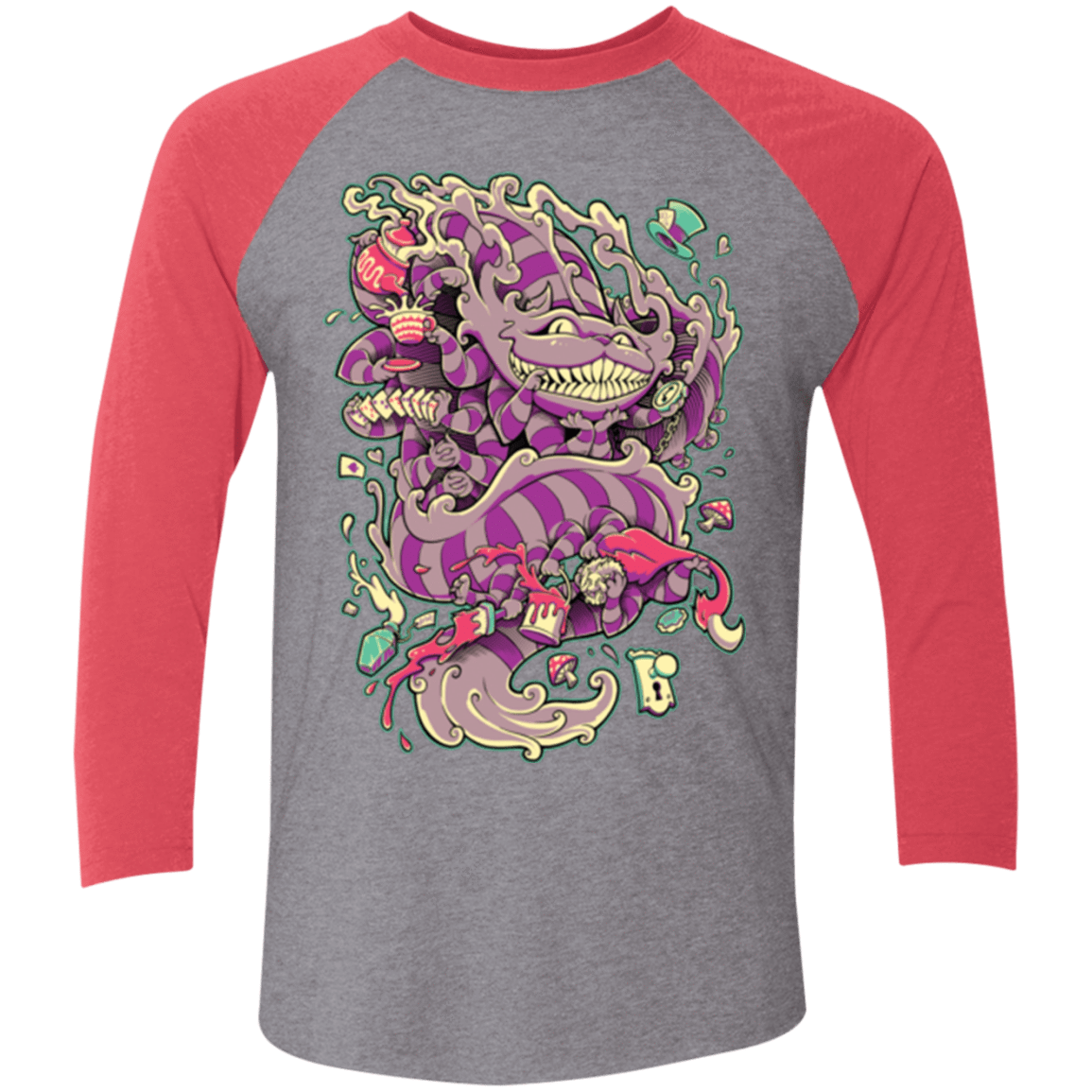 Cheshire Dragon Triblend 3/4 Sleeve