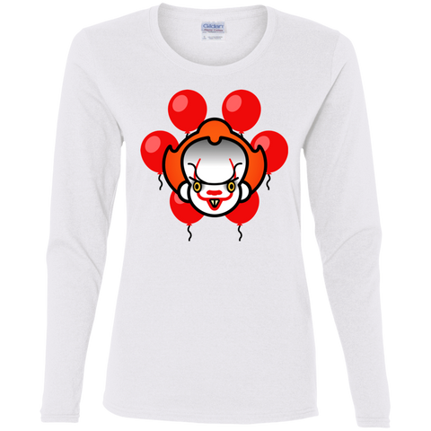 T-Shirts White / S Chibiwise Women's Long Sleeve T-Shirt