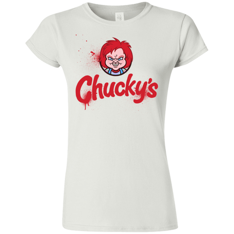 T-Shirts White / S Chuckys Logo Junior Slimmer-Fit T-Shirt
