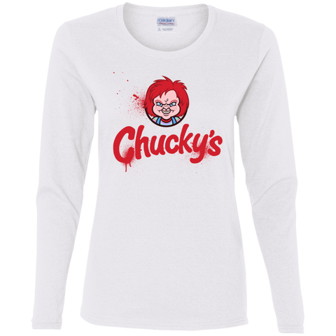 T-Shirts White / S Chuckys Logo Women's Long Sleeve T-Shirt