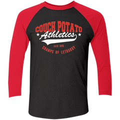 Couch Potato Men's Triblend 3/4 Sleeve