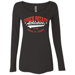Couch Potato Women's Triblend Long Sleeve Shirt