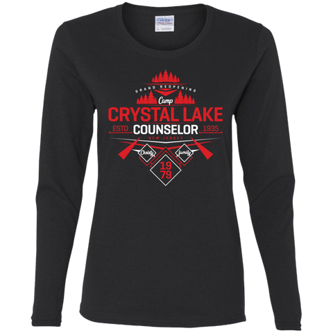 T-Shirts Black / S Crystal Lake Counselor Women's Long Sleeve T-Shirt