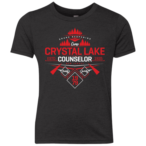 Crystal Lake Counselor Youth Triblend T-Shirt