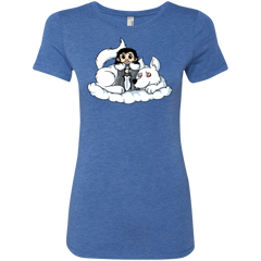 Cute Jon Snow and  Ghost Women's Triblend T-Shirt