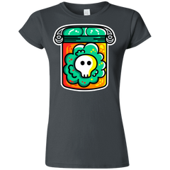 T-Shirts Charcoal / S Cute Skull In A Jar Junior Slimmer-Fit T-Shirt