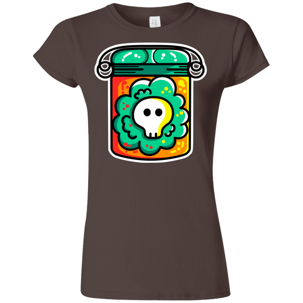 T-Shirts Dark Chocolate / S Cute Skull In A Jar Junior Slimmer-Fit T-Shirt