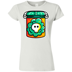 T-Shirts White / S Cute Skull In A Jar Junior Slimmer-Fit T-Shirt