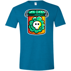 T-Shirts Antique Sapphire / S Cute Skull In A Jar Men's Semi-Fitted Softstyle
