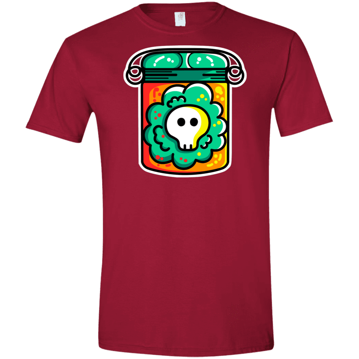 T-Shirts Cardinal Red / S Cute Skull In A Jar Men's Semi-Fitted Softstyle