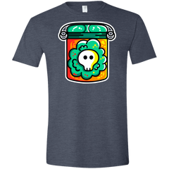 T-Shirts Heather Navy / S Cute Skull In A Jar Men's Semi-Fitted Softstyle