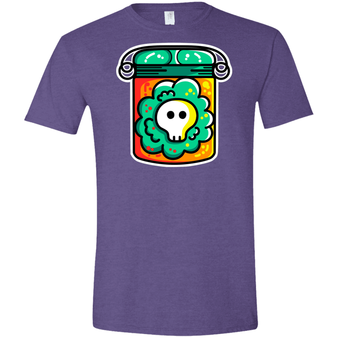 T-Shirts Heather Purple / S Cute Skull In A Jar Men's Semi-Fitted Softstyle