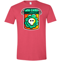 T-Shirts Heather Red / S Cute Skull In A Jar Men's Semi-Fitted Softstyle