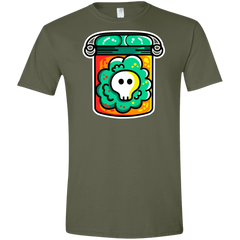 T-Shirts Military Green / S Cute Skull In A Jar Men's Semi-Fitted Softstyle
