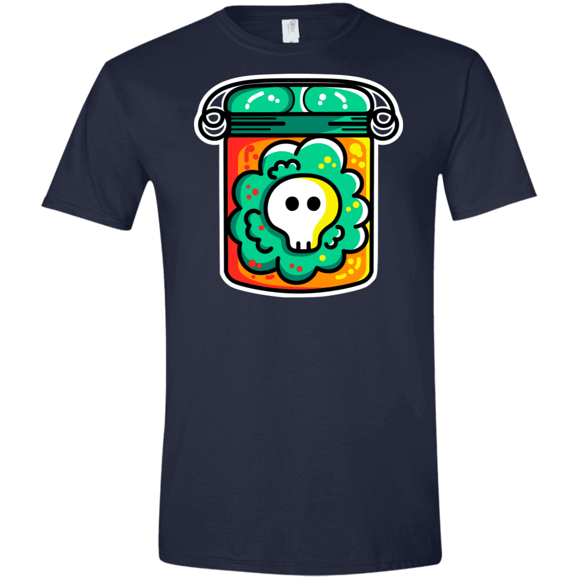 T-Shirts Navy / X-Small Cute Skull In A Jar Men's Semi-Fitted Softstyle