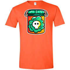 T-Shirts Orange / S Cute Skull In A Jar Men's Semi-Fitted Softstyle
