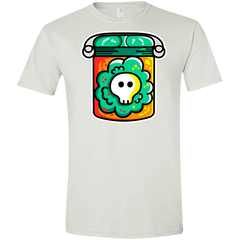 T-Shirts White / X-Small Cute Skull In A Jar Men's Semi-Fitted Softstyle