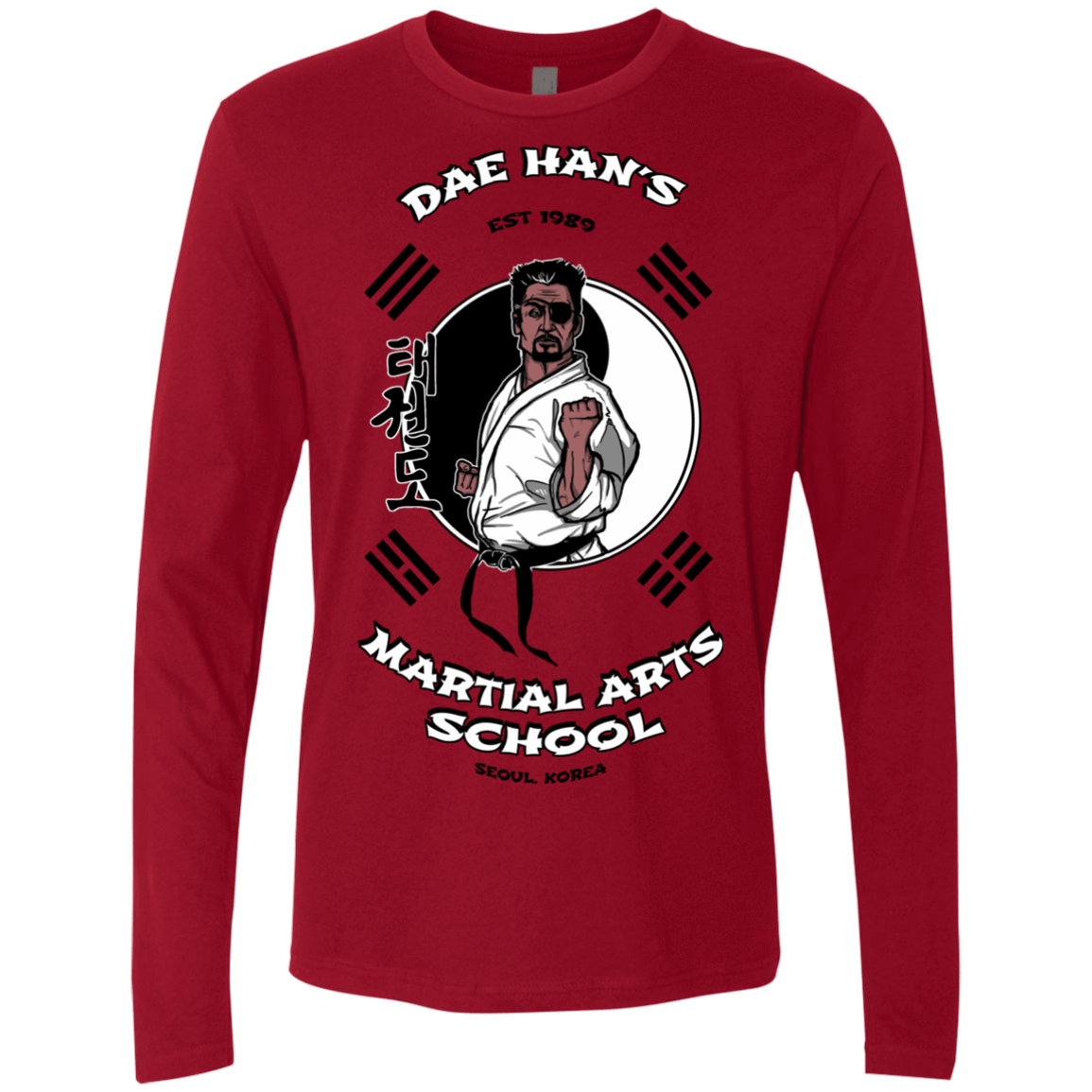T-Shirts Cardinal / S Dae Hans Martial Arts Men's Premium Long Sleeve
