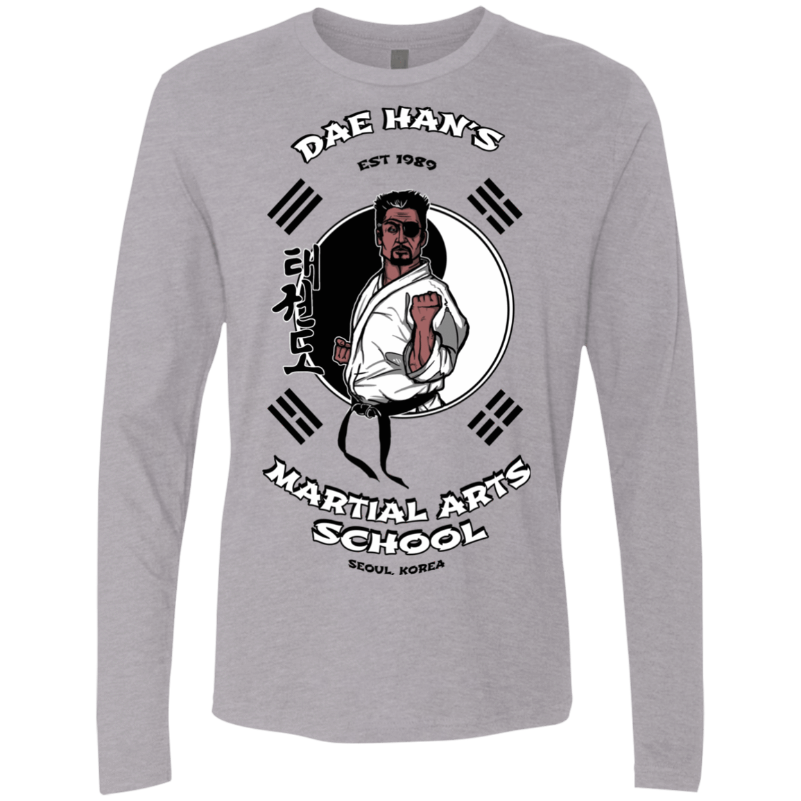 T-Shirts Heather Grey / S Dae Hans Martial Arts Men's Premium Long Sleeve