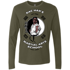 T-Shirts Military Green / S Dae Hans Martial Arts Men's Premium Long Sleeve