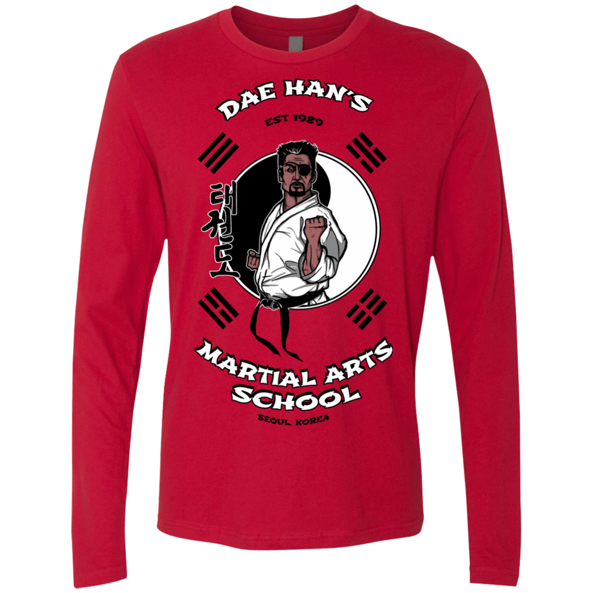 T-Shirts Red / S Dae Hans Martial Arts Men's Premium Long Sleeve